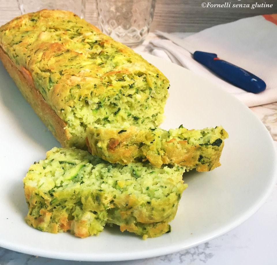 Plumcake salato zucchine ed Asiago senza glutine