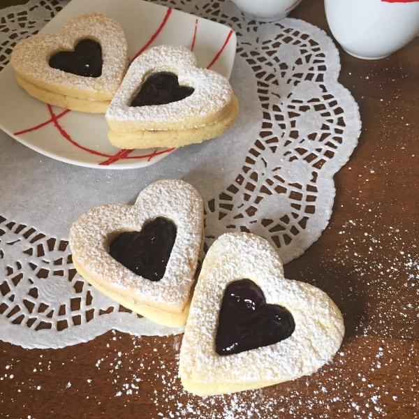 Biscotti cuori di frolla senza glutine