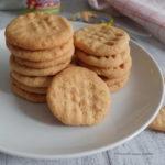 Biscotti al burro d'arachidi 3 ingredienti