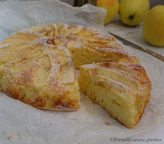 Torta di mele e ricotta senza glutine e burro