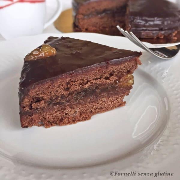 Torta Sacher con marmellata di Arance senza glutine