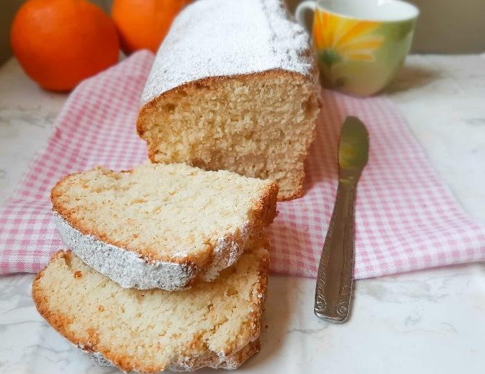 Plumcake all'arancia con farina di riso