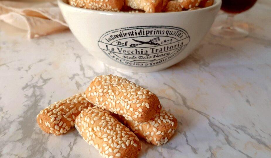 Biscotti siciliani con sesamo, biscotti regina